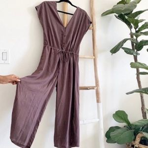 NWOT Anthropologie Cloth & Stone Double V Jumpsuit